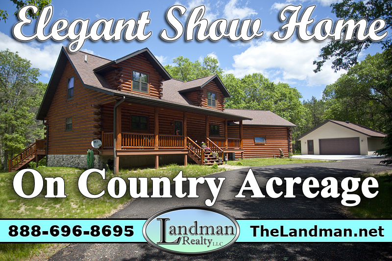 Wisconsin Log Home for Sale SAMPLE LISTING